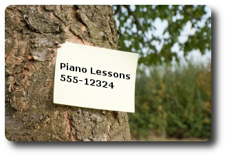 Advertising piano lessons image