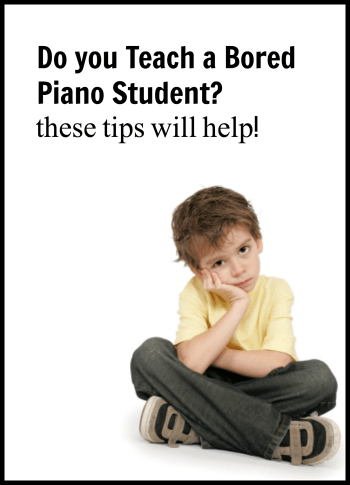 What to do with bored piano students