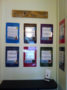 Ideas for displaying piano student activities on your studio wall.
