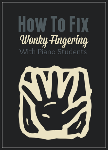 How to fix fingering in piano students