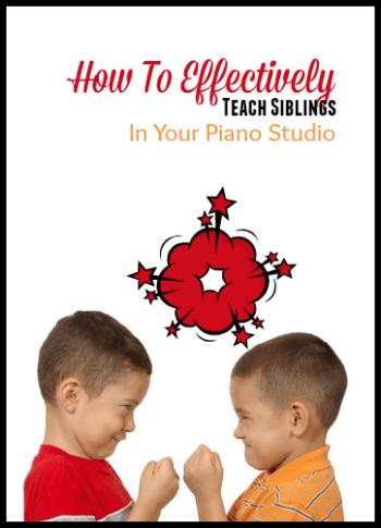 teaching piano to siblings