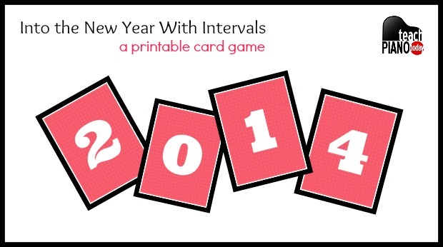 A Printable Piano Card Game – Into the New Year With Intervals