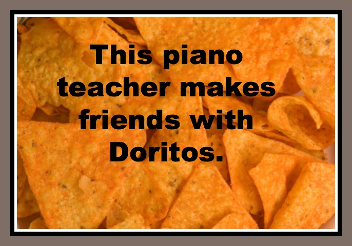 This Piano Teacher Makes Friends With Doritos