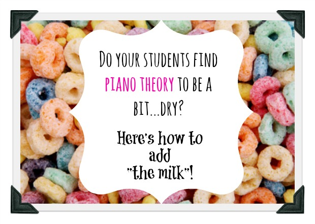 If You Find Piano Theory Dry, Just Add Milk