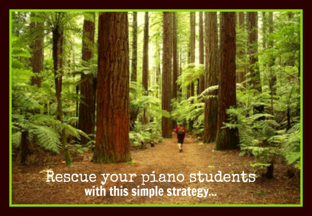 How To Stop Your Piano Student From Getting Lost in the Forest