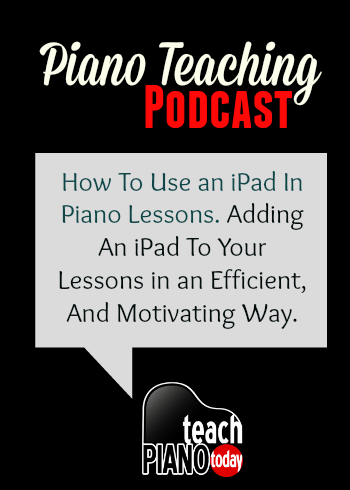 Using an iPad in your Piano Studio