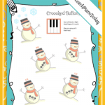 Snowman Printables For Your Pre-Reading Piano Students