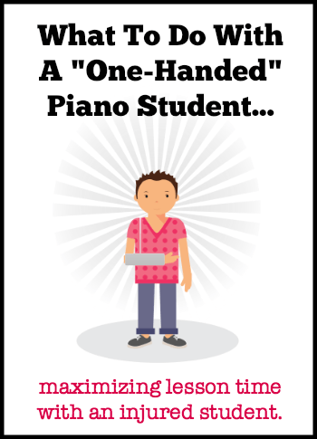 Injured piano student