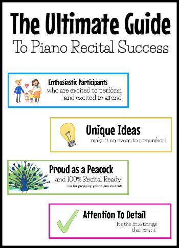 Ultimate recital guide