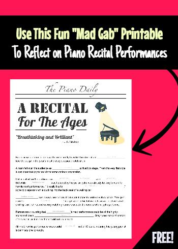 Recital reflection printable 2
