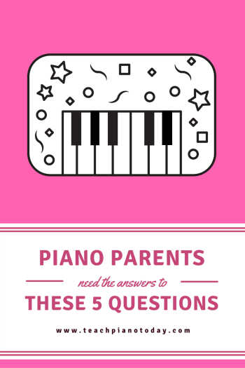 Piano Parent Questions