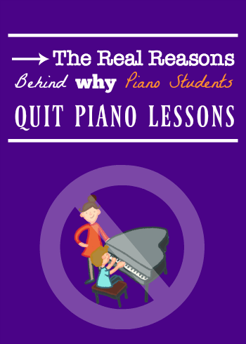 Why piano students quit