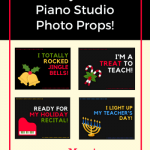 8 Holiday Photo Props To Make Your Piano Studio Pop!