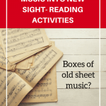 7 Ways To Repurpose Stacks Of Old Music Into Sight-Reading Fun!