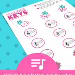 "Beginning Note Readers Will Love This ""Off The Bench"" Piano Printable"
