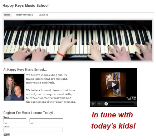 My Music Experiment - Piano Teaching Website Built in 37 Minutes ...