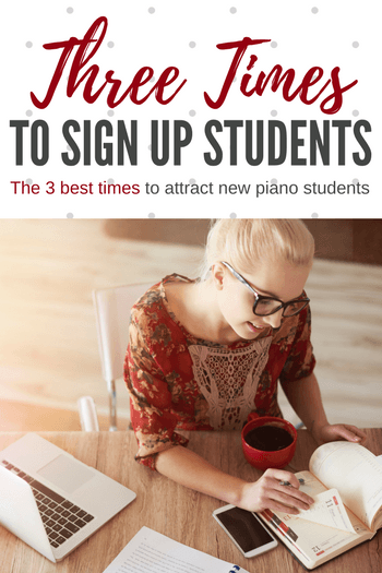 The best dates to advertise to new students
