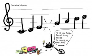 Music-themed caartoon