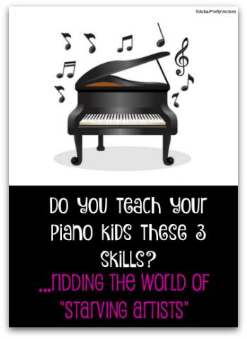 Teaching relevant piano skills