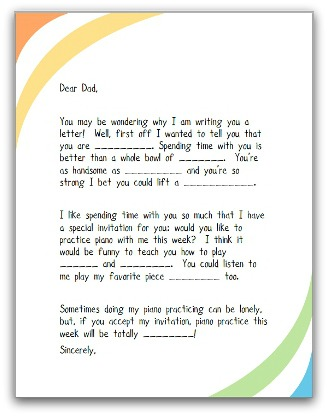 Piano Parent Letter