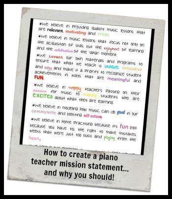 Piano Teacher Mission Statement Teach Piano Today