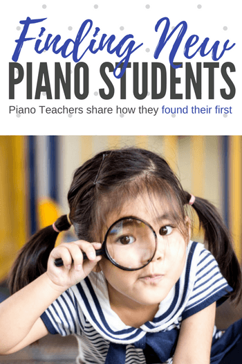 how to find new piano students