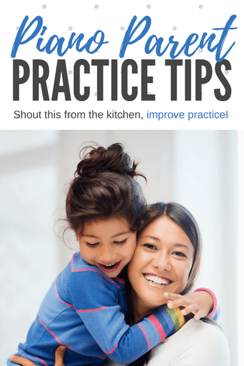 "Hand out our ""Shout it From the Kitchen"" sheet to your parents and ask them to follow it if they just don't have a moment to sit down and help their child that day. It's easy, it's do-able (tape it to the fridge!) and this small bit of direction will make a difference to your piano students' progress."