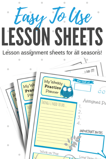 a printable to add some pizzazz to your piano lesson assignment