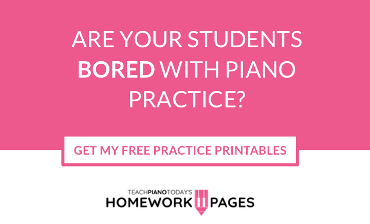 Piano Practice Homework Pages