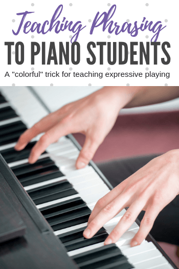 Teaching phrasing to piano students is easier when you can incorporate a visual aspect. Here's how! #TeachPianoToday