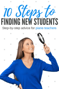 10 steps to landing a new piano student