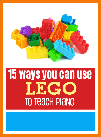Lego acts like a magnet to young children, so capitalize on their curiosity and use it as a piano teaching tool for hands-on learning. Here's 15 ways to use it! #TeachPianoToday #PianoLessons #PianoTeaching