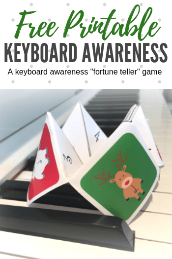All you need is our holiday-themed printable to have some stepping and skipping fun while reinforcing keyboard awareness skills #TeachPianoToday #HolidayPiano #ChristmasPiano #PianoLessons
