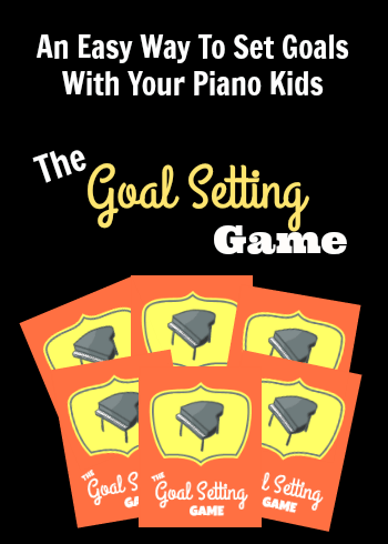 Setting goals with piano students