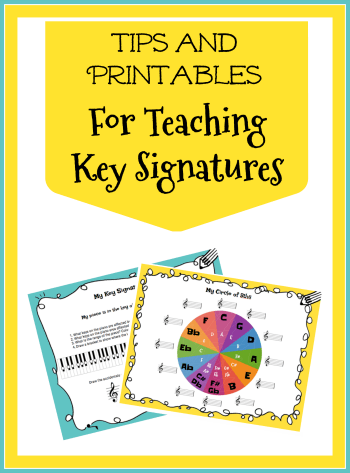 Teaching comfort with key signatures