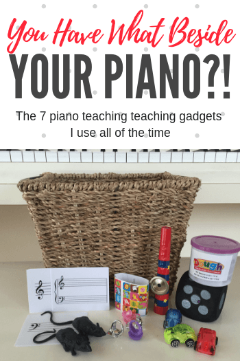 You Have WHAT Beside Your Piano? The Teaching Gadgets I've