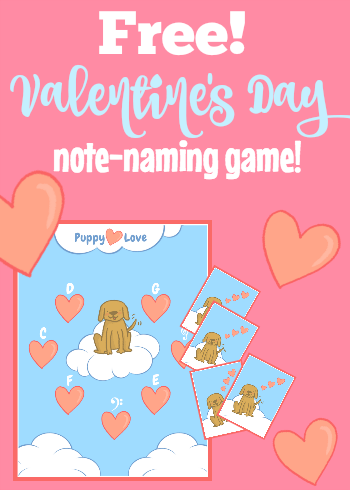Valentines Note Naming Game