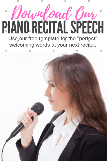 This Is What The Perfect Piano Recital Welcome Speech Looks