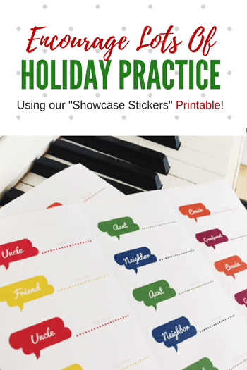 graphic relating to Printable Music Practice Log named Motivate Holiday vacation Piano Prepare With Our Showcase Stickers