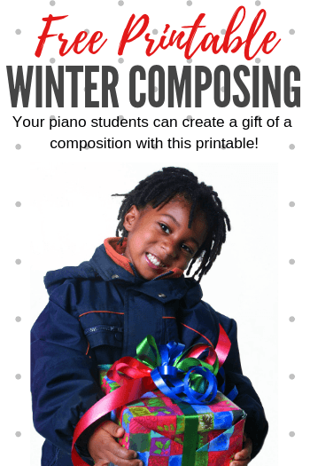 Winter composing activity for piano students
