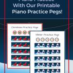 Holiday-Themed Piano Practice Pegs Are Here! Keep 'Em On The Bench This Season