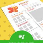 Set Your Students Up For Successful Practice With Spring-Themed Assignment Sheets