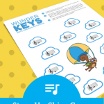 Head To The Sky To Search For Skips In This Piano Lesson Printable