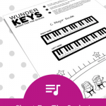 "Help Your Piano Students ""Shoot For The Scales"" With This Level 1 Printable"