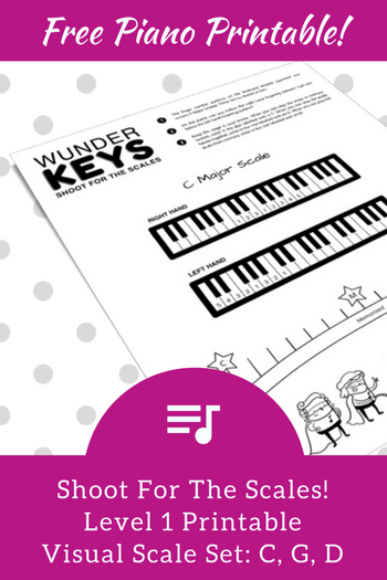 Help Your Piano Students Shoot For The Scales With This Level 1