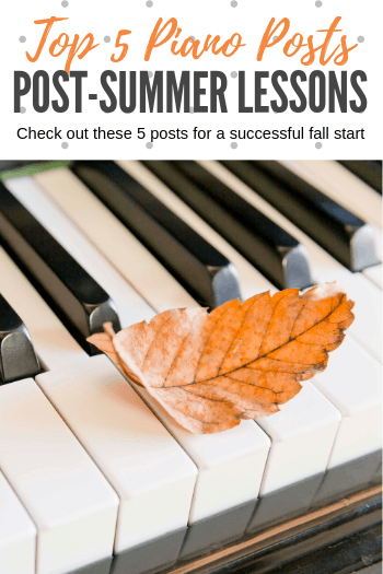 A Summer Reading List For A Successful First Week When Piano