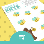 A 'Sweet' Time Signature Printable For The Busy Little Bees In Your Piano Studio