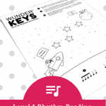 "Roll Your Way To Rhythm Fun With An ""Out Of This World"" Piano Printable"
