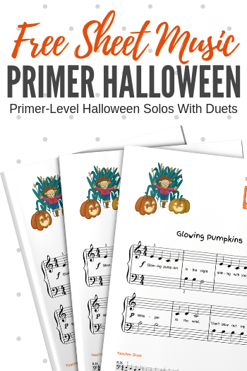 You need easy-to-play Halloween music (because who wants to spend 3 weeks learning a piece for Halloween?!) and we have it... for free! #TeachPianoToday #WunderKeys #HalloweenMusic #SheetMusic