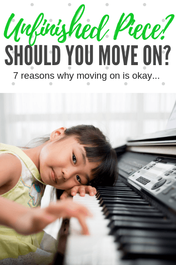 Does your student have a piece that has dragged on for weeks (or even months?) Is it okay to let it go, or should you stick it out? Here's 7 things to consider... #TeachPianoToday #PianoLessons #PianoTeaching